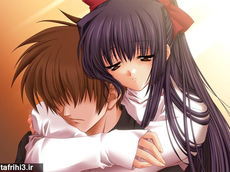 عکس های عاشقانه کارتونی احساسی دختر و پسر