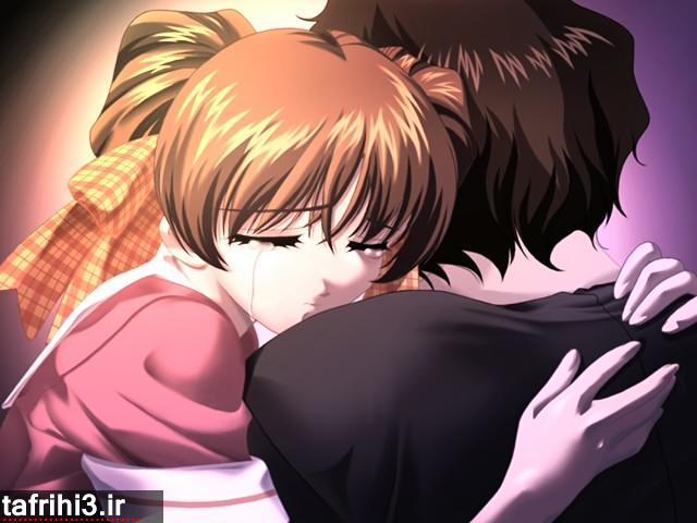 عکس عاشقانه فانتزی دختر و پسر در حال گریه