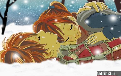 عکس های عاشقانه کارتونی دختر و پسر 2015