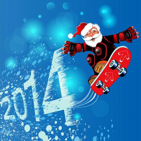 کارت پستال به مناسبت کریسمس 2014