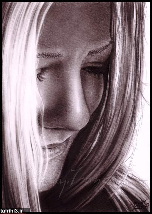 عکس دختر غمگین و گریه