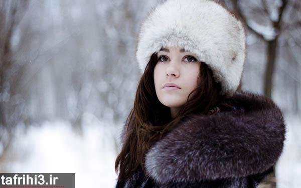 عکس های عاشقانه از  تنهایی دختر در زمستان