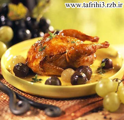 طرز تهیه بلدرچین با انگور