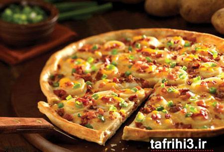 طرز تهیه پیتزای مرغ و سیب زمینی برای بیماران قلبی