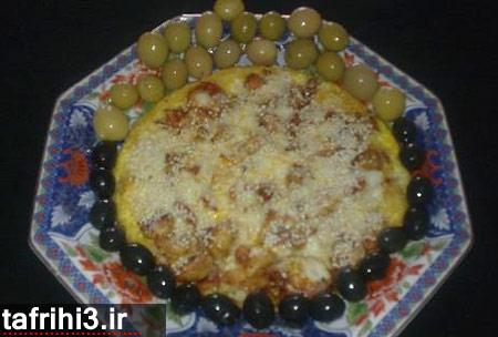 پیتزا املت گل گلم