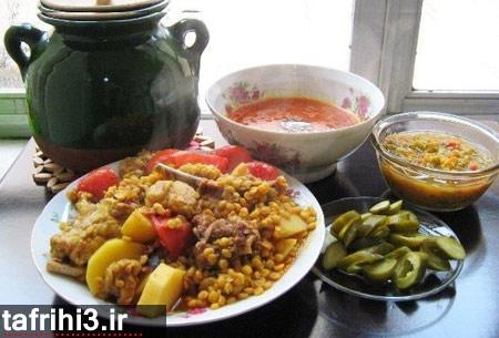 طرز تهیه آبگوشت لپه و لیمو عمانی