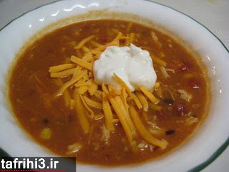 طرز تهیه سوپ مرغ با چیپس تورتیلا