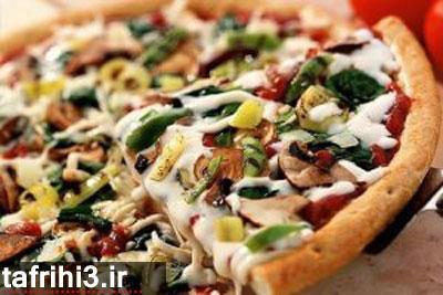 طرز تهیه پیتزایی رژیمی و کم کالری