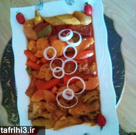 طرز تهیه تاس کباب با مرغ یا گوشت (غذاهای رژیمی)
