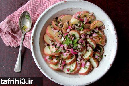 طرز تهیه سالاد سیب زمینی