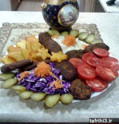 طرز تهیه کتلت با سبزیجات