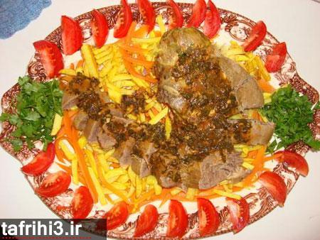 طرز تهیه خوراک زبان گوساله