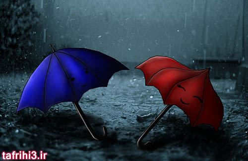 اس ام اس عاشقانه با موضوع باران