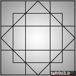 معمای تصویری تعداد مربع ها
