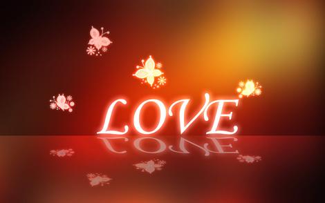 تک عکس عاشقانه از کلمه love