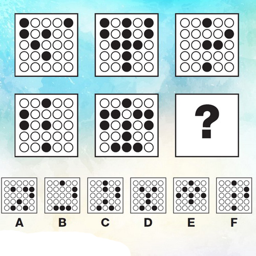 تست هوش چیدمان نقاط سیاه و سفید